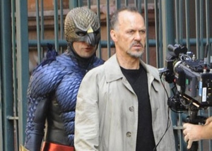 "Michael Keaton (right),   Zach Galifianakis and  Edward Norton star in ""Birdman,"" a comedy scheduled for release Oct. 17."