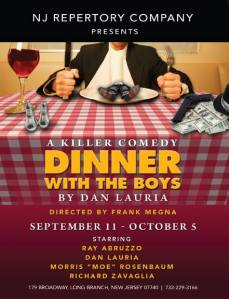 "The world premiere of Dan Lauria's ""Dinner With the Boys"" runs Sept. 11 through Oct. 5 at the New Jersey Repertory Theatre in Long Branch, NJ"