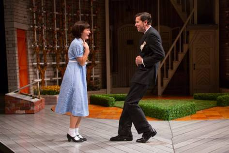 """Scene from """"School for Wives"""" at the Two River Theater Company in Red Bank."""