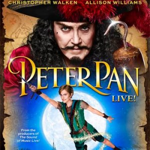 "image of NBC's official poster for the Dec. 4 live broadcast of ""Peter Pan"" starring Allison Williams and Christopher Walken."