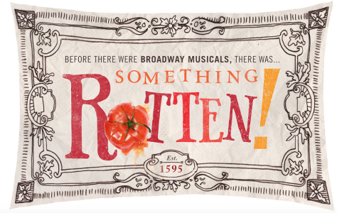 "Screen Shot of website for new Broadway musical ""Something Rotten!"