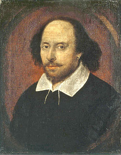 Image of the Chandos portrait, artist and authenticity unconfirmed. National Portrait Gallery, London./Wikipedia