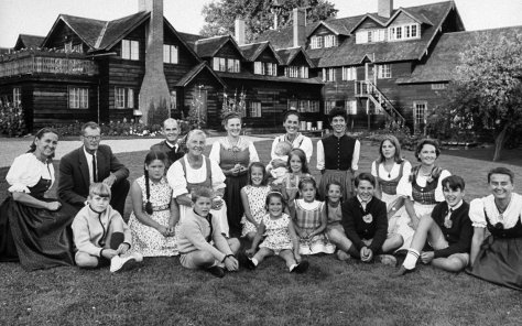 Maria Von Trapp and family in 1965 gather for reunion at family-owned hotel in 1965.(Photo courtesy of Ted Russell/Time Life Pictures/Getty Images)