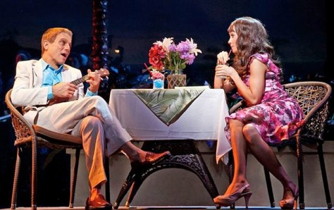 "Image of Tony Danza and Brynn O'Malley in a scene ""Honeymoon in Vegas,"" which originated at the Paper Mill Playhouse in Milburn, NJ."