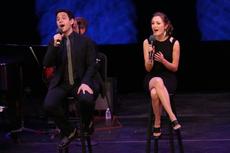 "Image of Laura Osnes and Santino Fontana perform duets as part of Season Two of ""American songbook at  NJPAC."" (Photo by Daniel Cardenas/NJTV)"