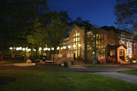 Image of Exterior of the Kirby Theatre, home of the Shakespeare Theater of New Jersey located on the campus of Drew University in Madison.