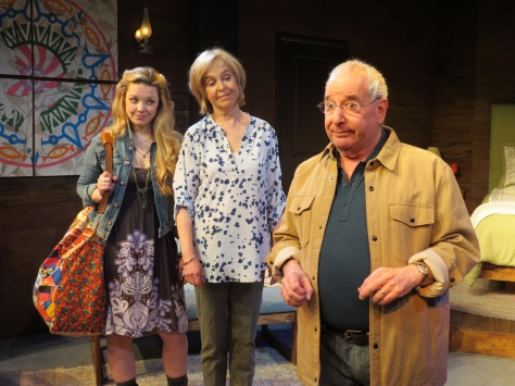 "image From left, Pheonix Vaughn, Jill Eikenberry , and Michael Tucke in ""The M Spot."" Directed by Evan Bergman, the play begins performances Feb. 26 in Long Branch, NJ. (Photo SuzAnne Barabas)"