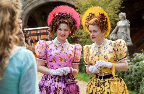 "Image of ""Cinderella"" step-sisters Holliday Grainger and Sophie McShera -- better known as a kitchen maid in ""Downton Abbey."" -   (Credit Jonathan Olley/Disney)"