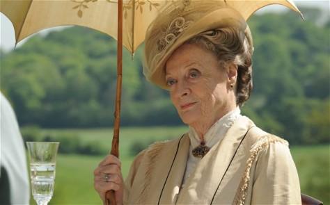 "Maggie Smith (shown here as the Dowager Countess) says the sixth season of ""Downton Abbey"" will be her last, whether to not the series continues beyond 2016. (Nick Briggs/Carnival Film & Television for Masterpiece)"