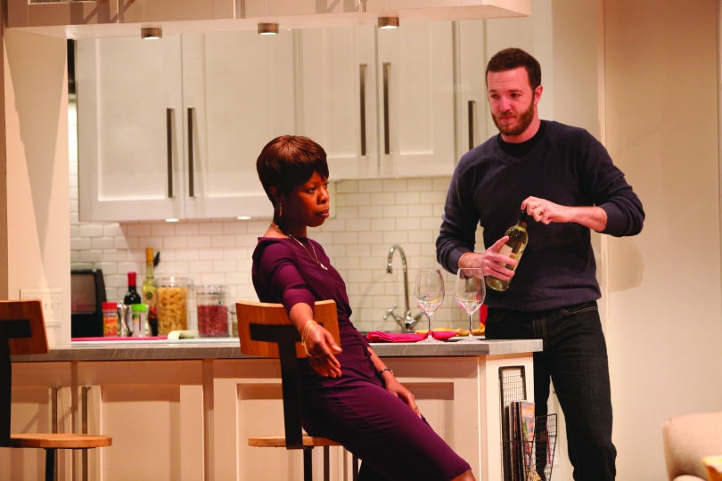 "Janeece (played by Roslyn Ruff) and Randall (Andrew Hovelson) in the world premiere of ""Your Blues Ain't Sweet Like Mine"" at Two River Theater, Red Bank, NJ (Photo: Michal Daniel)"
