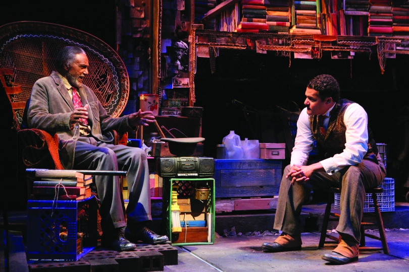 "Zebedee (left, played by Charles Weldon) and Zeke (Brandon J. Dirden) in the world premiere of ""Your Blues Ain't Sweet Like Mine"" at Two River Theater in Red Bank. (Photo: Michal Daniel)"