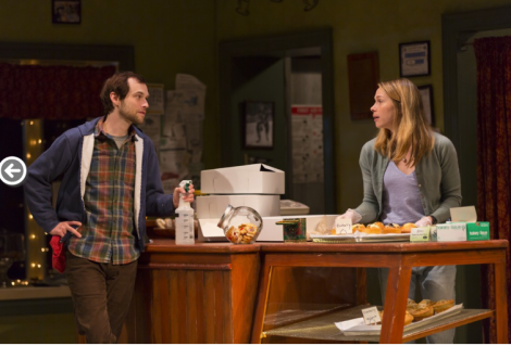 "Jamie (Tobias Segal) has a thing for Mary (Kristen Bush) ""Five Mile Lake"" at McCarterTheater in Princeton through May 31. (PHOTO: T. Charles Erikson)"