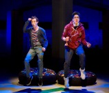 "Will Connolly (Jeremy Heere) and George Salazar (Michael) in the world premiere of ""Be More Chill"" at Two River Theate, Red Bank, NJ. (PHOTO: T. Charles Erickson)"