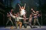 "Margo Seibert (Danielle) and the men of ""Ever After"" ""Ever After"" at Paper Mill Playhouse."
