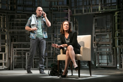 "John Schiappa and Laurie Metcalf in ""The Other Place."" She earned both a Tony Award and Drama Desk nomination for Best Actress in a Play. (PHOTO: Joan Marcus)"