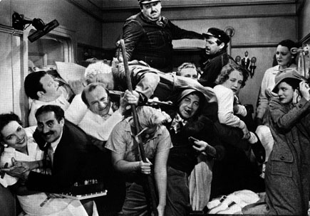 """This scene, one of the most famous comedy scenes of all time, was developed with participation of silent comedy great, then gag writer, Buster Keaton who took inspiration from a simpler precursor in his own film, """"The Cameraman,"""" according to Wikipedia."""