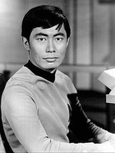 "George Takei as Lieutenant Hikaru Sulu, from the TV series ""Star Trek"" (1966). PHOTO: Wikipedia"