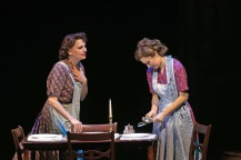 "Beth Leavel (left) plays Mrs. Adams, Laura Osnes mother in the Paper Mill Playhouse production of ""The Bandstand."" (PHOTO: Jerry Dalia)"