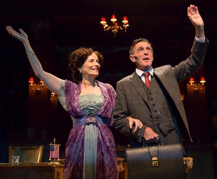 Laila Robins as Edith Wilson and John Glover as Woodrow Wilson. Photo by T. Charles Ericsson