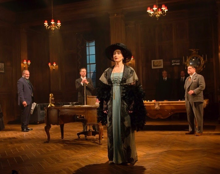 Laila Robins as Edith Wilson (front) with (L to R) Sherman Howard (Sen. Henry Cabot Lodge), Stephen Barker Turner (Dr. Cary Grayson) and Michael McGrath (Secretary Joe Tumulty). Photo by T. Charles Erickson