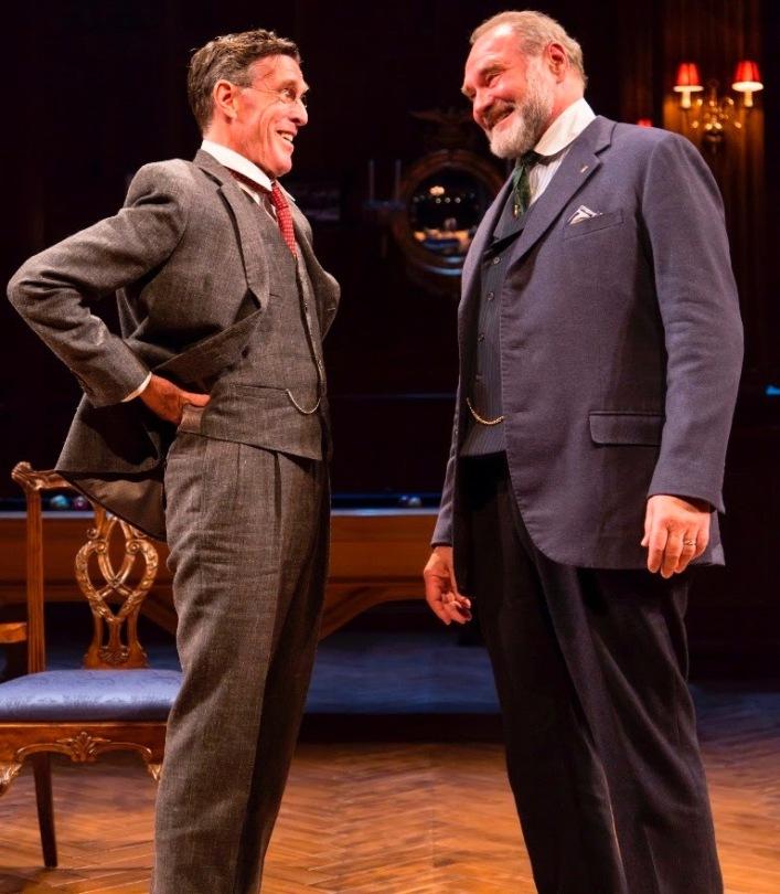 John Glover (left) as Woodrow Wilson and Sherman Howard as Sen. Henry Cabot Lodge.