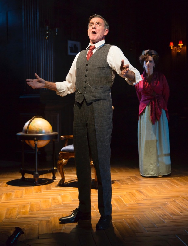 John Glover as Woodrow Wilson (front, center) with Laila Robins (Edith Wilson) looking on. Photo by T. Charles Erickson Photo by T. Charles Erickson