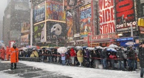 Broadway canceled its Saturday matinee and evening performances due to the weather.