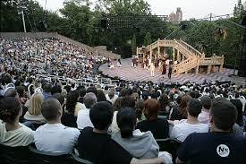 Image of Shakespeare in the Park performance.