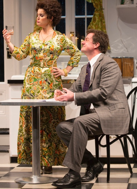 "Mary Birdsong (Marion) and Michael Cumpsty (Ronald) in ""Absurd Person Singular' at Two River Theater. (PHOTO: T Charles Ericsson)"