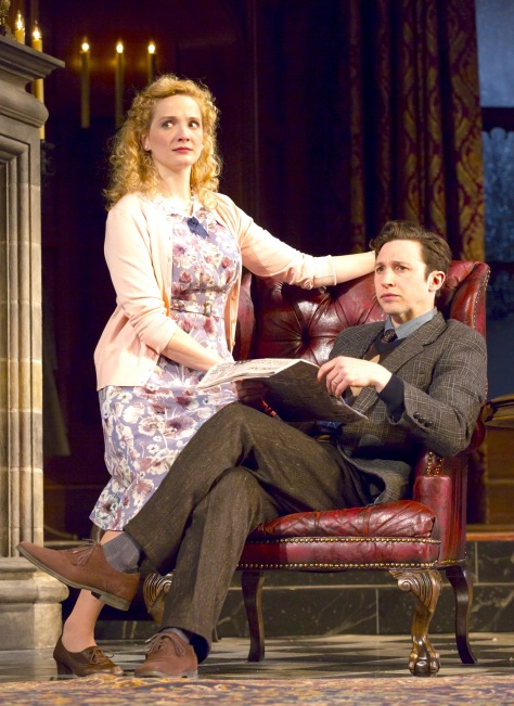 Jessica Bedford and Adam Green play Mollie and Giles Ralston, newlyweds who have turned Monkswell Manor into an enjoyable guest home. At least, that's the plan. (PHOTO: T Charles Ericsson)
