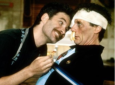 "Kevin Kline (left) and Michael Palin in a scene from the film ""A Fish Called Wanda."" Kline earned a Best Supporting Oscar for the role."