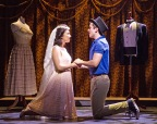 "Matt Doyle (Tony) and Belinda Allyn (Maria) in the bridal shop of ""West Side Story."" Photo by Jerry Dalia"