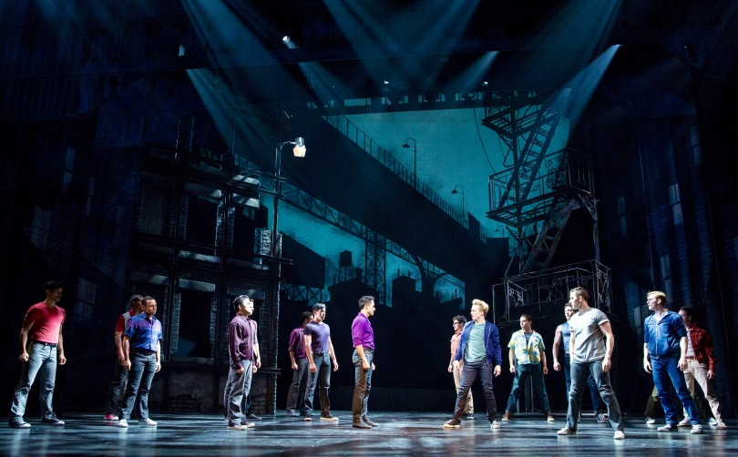 "The Jets and the Sharks in ""West Side Story at ""West Side Story"" at Paper Mill Playhouse. Photo by Matthew Murphy"