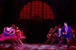 "A scene from the dance in the gym in ""West Side Story"" at Paper Mill Playhouse. Photo by Matthew Murphy."