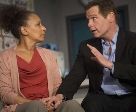 "Tamara Tunie (""Law & Order: SVU"") and Michael Hayden in the world premiere of ""American Son"" at Barrington Stage through July 9. (PHOTO: Scott Barrow)"