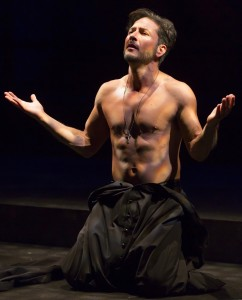 "Raul Mendez plays Father Monroe in ""Bathing in Moonlight"" by Nilo Cruz at McCarter Theatre in Princeton."
