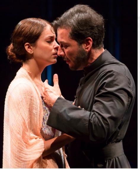 "Hannia Guillen and Raúl Méndez in ""Bathing in Moonlight."" Credit T. Charles Erickson"