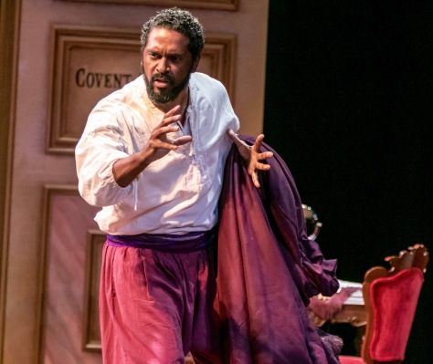 Lindsay Smiling plays Ira Aldridge, an American and later British stage actor and playwright who made his career after 1824 largely on the London and European stages, especially in Shakespearean roles. (Photo credit: Jerry Dalia.)
