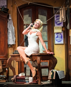 """The Producers"" at the Paper Mill Playhouse. Ashley Spencer as Ulla. (Photo: Billy Bustamante)"