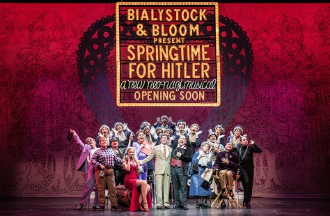 "The company of ""The Producers"" at Paper Mill Playhouse. (Photo: Billy Bustamante)"