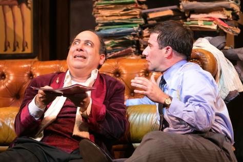 """Michael Kostroff as Max (left) and David Josefsberg Leo in the Paper Mill Playhouse production of """"The Producers. (Photo by Jerry Dalia)"""