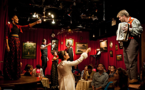 "A scene from the production of ""Natasha, Pierre & the Great Comet of 1812"" off-Broadway at Ars Nova. (PHOTO: Ben Arons)"