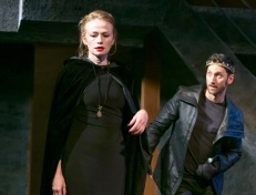 """Gretchen Hall and Derek Wilson in """"Richard III"""" by William Shakespeare. at The Shakespeare Theatre of New Jersey. Directed by Paul Mullins."""