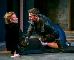 """Gretchen Hall and Derek Wilson. in """"Richard III"""" by William Shakespeare. at The Shakespeare Theatre of New Jersey. Directed by Paul Mullins. (Photo: Jerry Dalia)"""