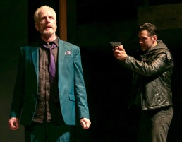 """John Hickok (left) and John Keabler. in """"Richard III"""" by William Shakespeare. at The Shakespeare Theatre of New Jersey. Directed by Paul Mullins. (Photo: Jerry Dalia)"""