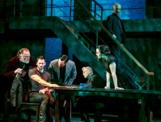 """From left, Ames Adamson, Derek Wilson, John Keabler, James Suggitt, Amaia Arana and John Hickok in """"Richard III"""" by William Shakespeare. at The Shakespeare Theatre of New Jersey. Directed by Paul Mullins. (Photo: Jerry Dalia)"""