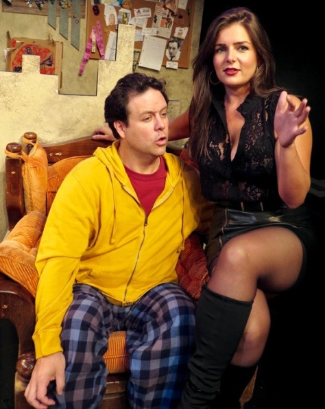 """Jared Michael Delaney and Brittany Proia  in """"Mad Love"""" at New Jersey Repertory Theater, Long Branch, NJ"""