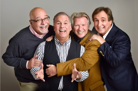 "From left, Tom Frascatore, Jeff Babey, Glenn Jones and Billy Van Zandt in ""Manopause: the Musical."" (PHOTO: Danny Sanchez)"