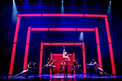 """The Bodyguard"" made its North American premiere at the Paper Mill Playhouse in Milburn, NJ, featuring Deborah Cox as pop singer Rachel Marron who needs protection from a stalker. (PHOTO: Matthew Murphy)"