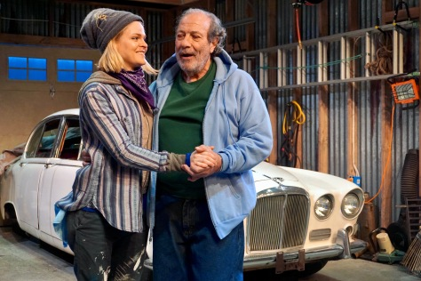 "Dan Grimaldi is the 70-year-old father Chick and Estelle Bajou is Carla, a genius car mechanic in ""The Jag."" (PHOTO: SuzAnne Barabas)"